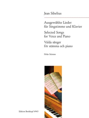 15 Ausgewählte Lieder. Voix Haute SIBELIUS Partition laflutedepan