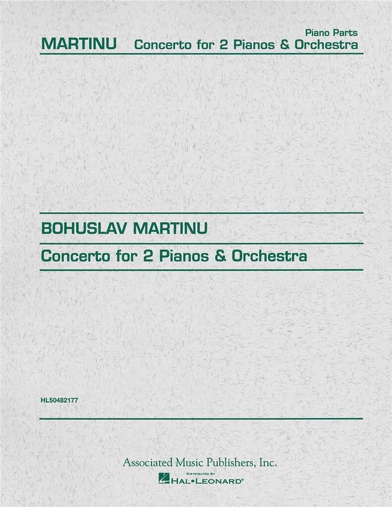 Concerto Pour 2 Pianos. - MARTINU - Partition - laflutedepan.com
