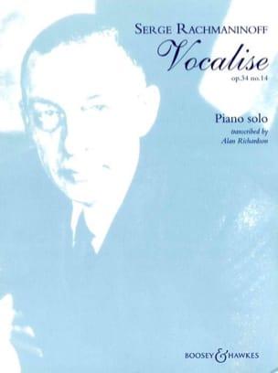 Vocalise Opus 34-14. Piano RACHMANINOV Partition Piano - laflutedepan