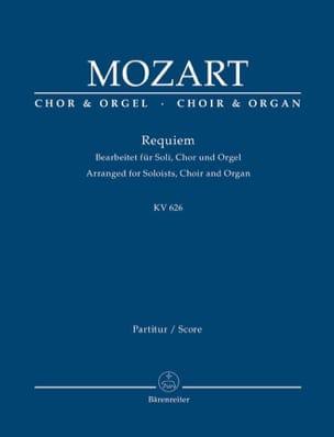 Requiem K 626 MOZART Partition Chœur - laflutedepan