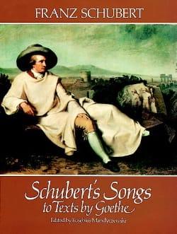 SCHUBERT - Lieder sobre los textos de Goethe - Partition - di-arezzo.es