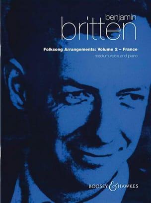 Folksongs Volume 2 Voix Moyenne France BRITTEN Partition laflutedepan