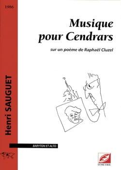 Musique Pour Cendrars Henri Sauguet Partition laflutedepan