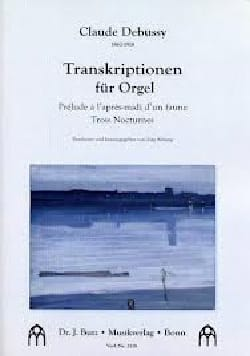 Transcriptions DEBUSSY Partition Orgue - laflutedepan