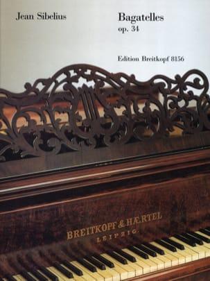 Bagatelles Opus 34 SIBELIUS Partition Piano - laflutedepan