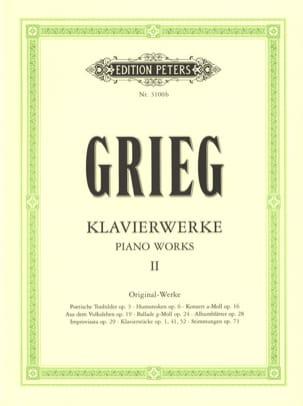 Oeuvre Pour Piano. Volume 2 GRIEG Partition Piano - laflutedepan
