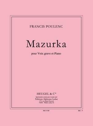 Mazurka POULENC Partition Mélodies - laflutedepan