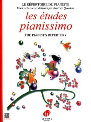 Les Etudes Pianissimo Béatrice Quoniam Partition Piano - laflutedepan