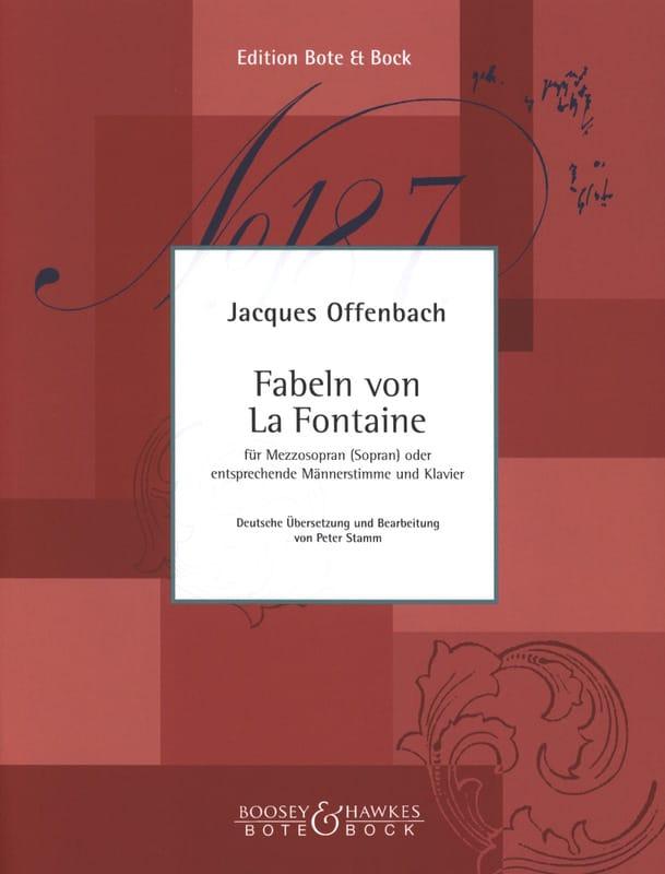 6 Fables de la Fontaine - OFFENBACH - Partition - laflutedepan.com