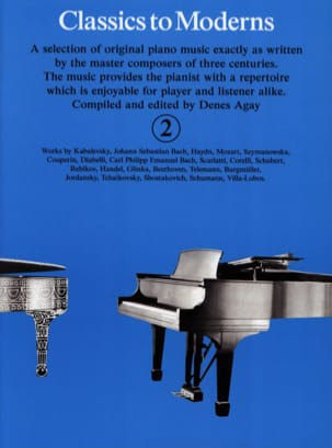 Classics To Moderns Volume 2 Partition Piano - laflutedepan