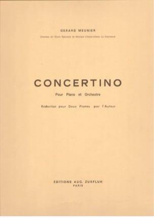 Concertino. 2 pianos Gérard Meunier Partition Piano - laflutedepan