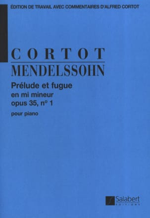 MENDELSSOHN - Prelude and Fugue Opus 35-1. - Partition - di-arezzo.co.uk