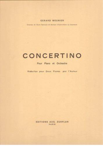 Concertino. 2 pianos - Gérard Meunier - Partition - laflutedepan.com
