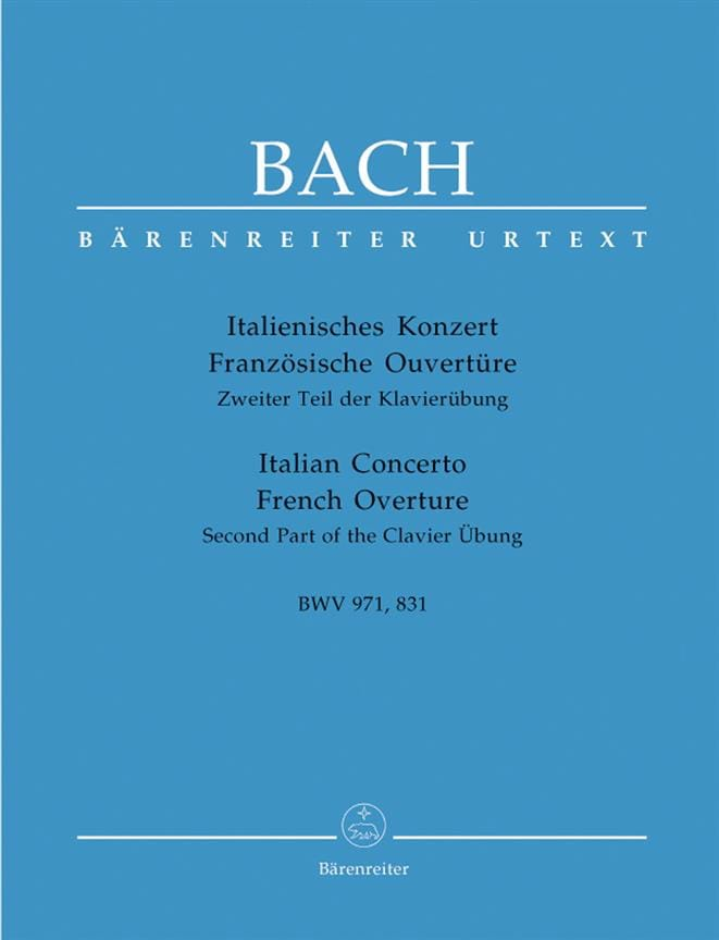 Italienisches Konzert BWV 971 - Französischer Ouvertüre BWV 831 - laflutedepan.com