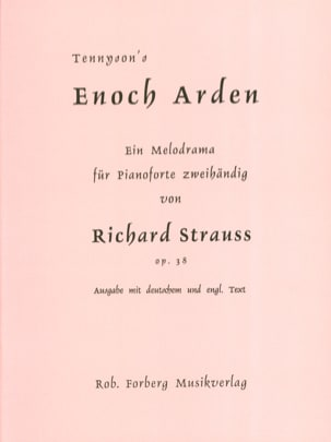Enoch Arden - Opus 38 Richard Strauss Partition Piano - laflutedepan
