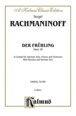 Der Fruhling Op. 20 RACHMANINOV Partition Chœur - laflutedepan