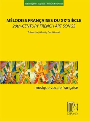Mélodies françaises au XXème siècle. Voix moyenne ou grave laflutedepan