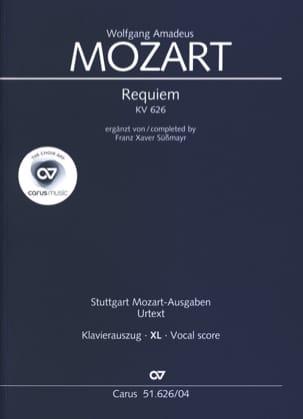 Requiem Kv 626 XL Format MOZART Partition Chœur - laflutedepan