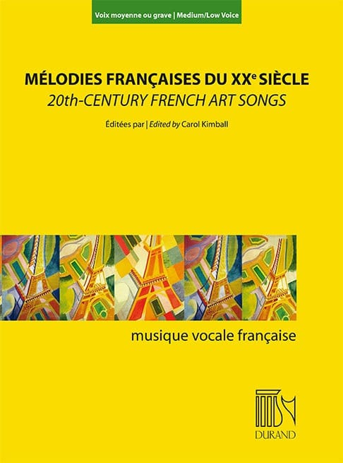 Mélodies françaises au XXème siècle. Voix moyenne ou grave - laflutedepan.com