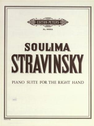 Suite Pour la Main Droite Soulima Stravinski Partition laflutedepan