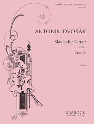 Danses Slaves Opus 72 Volume 1 DVORAK Partition Piano - laflutedepan