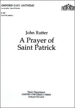 A Prayer of Saint Patrick RUTTER Partition Chœur - laflutedepan