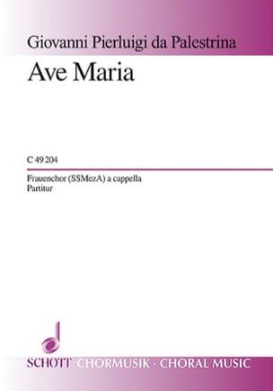 Ave Maria PALESTRINA Partition Chœur - laflutedepan