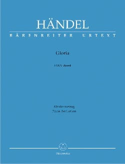 Gloria - HAENDEL - Partition - Mélodies - laflutedepan.com