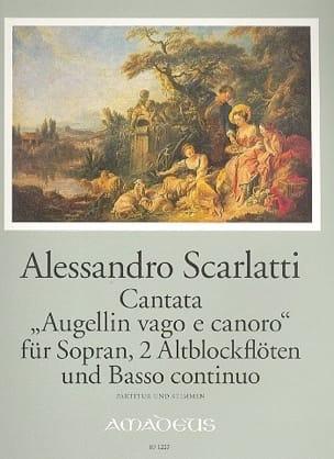 Augellin Vago E Canoro Alessandro Scarlatti Partition laflutedepan