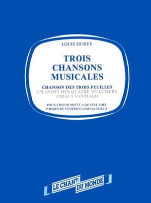 Chanson des trois feuilles Louis Durey Partition Chœur - laflutedepan