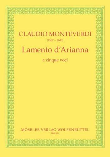 Lamento d' Arianna - MONTEVERDI - Partition - Chœur - laflutedepan.com
