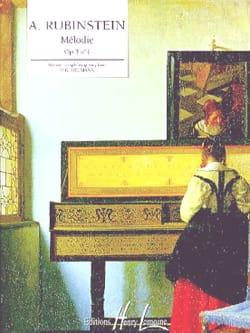 Mélodie Opus 3-1 - Anton Rubinstein - Partition - laflutedepan.com