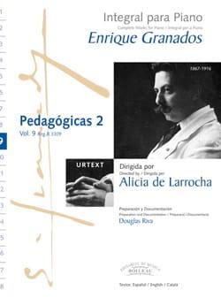 Pedagogicas Volume 2 - GRANADOS - Partition - Piano - laflutedepan.com