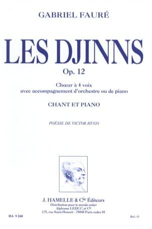Les Djinns FAURÉ Partition Chœur - laflutedepan
