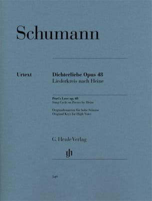 Dichterliebe Opus 48. SCHUMANN Partition Mélodies - laflutedepan