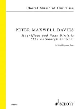 Magnificat And Nunc Dimittis Davies Peter (Sir) Maxwell laflutedepan
