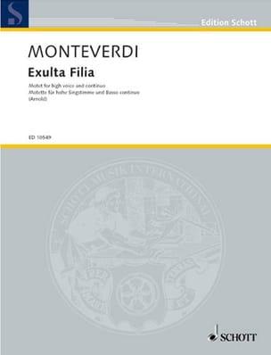 Exulta Filia MONTEVERDI Partition Mélodies - laflutedepan