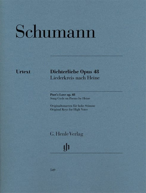 Dichterliebe Opus 48 - Voix haute - SCHUMANN - laflutedepan.com