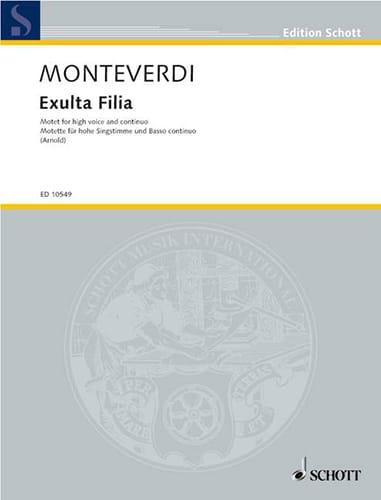 Exulta Filia - MONTEVERDI - Partition - Mélodies - laflutedepan.com