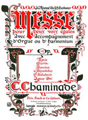 Messe Opus 167 Cécile Chaminade Partition Chœur - laflutedepan