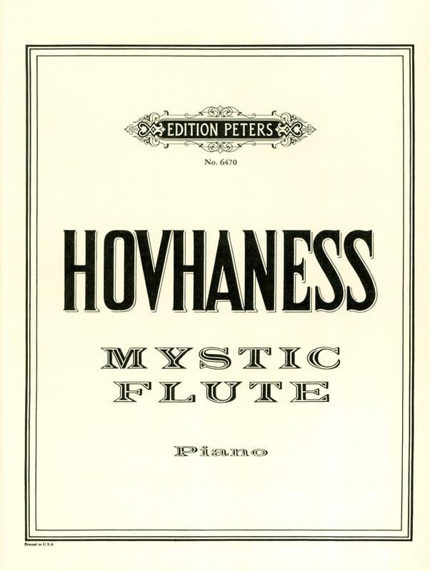 Mystic Flute op.22 - Hovhaness - Partition - Piano - laflutedepan.com