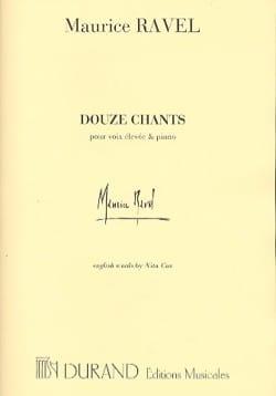 12 Chants. Voix Haute RAVEL Partition Mélodies - laflutedepan