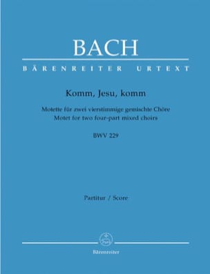 Motet N°5 Komm, Jesu, Komm - BWV 229 BACH Partition laflutedepan