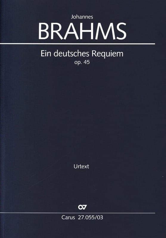 Ein Deutsches Requiem Opus 45 - BRAHMS - Partition - laflutedepan.com