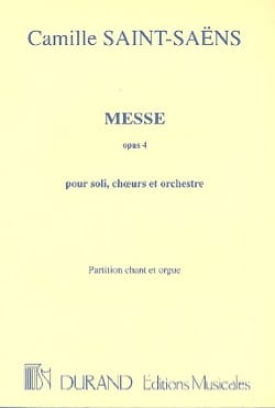 Messe Opus 4 SAINT-SAËNS Partition Chœur - laflutedepan