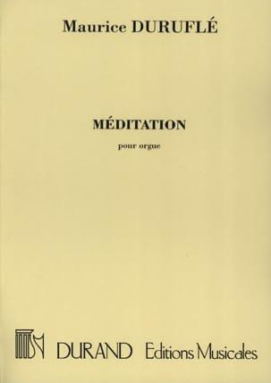 Méditation. DURUFLÉ Partition Orgue - laflutedepan