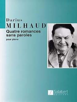 4 Romances Sans Parole Opus 129 MILHAUD Partition Piano - laflutedepan