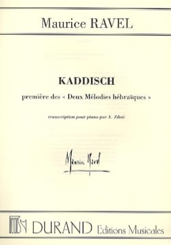 Kaddisch RAVEL Partition Piano - laflutedepan