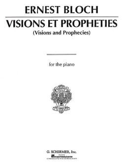 Visions et Prophéties BLOCH Partition Piano - laflutedepan