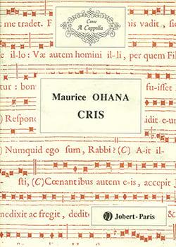Cris Maurice Ohana Partition Chœur - laflutedepan